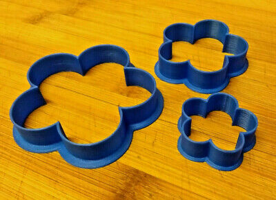 3pcs Flower Shaped Cookie Cutters - UK Made - Free Shipping - • 2.99£