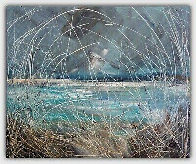 Sea Grasses, Coastal / Landscape Art. Original Signed Acrylic Painting On Canvas • 85£