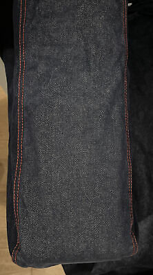 Ikea Cover ONLY For Klippan 2 Seat Sofa Denim Jean With Red Stitch 3 Holes Faded • 27£