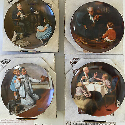 $ CDN33.88 • Buy Lot Of 4 Norman Rockwell Collector Plates The Painter Storyteller Tycoon Gourmet