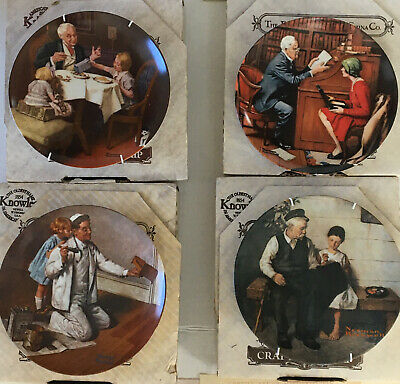 $ CDN33.88 • Buy Lot Of 4 Norman Rockwell Collector Plates The Painter Gourmet Professor Daughter
