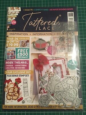 Tattered Lace Magazine Issue 75 - Brand New - Die - Stamps - Papers • 5£