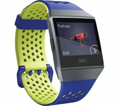 $ CDN46.55 • Buy Fitbit Ionic Sports Accessory Strap Band Bracelet - Blue/Yellow (Cobalt & Lime)