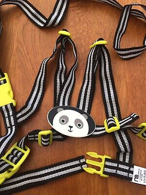 Mothercare Toddler Reins. Black And White Stripes With Panda. Walking Harness • 1.60£