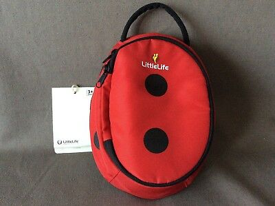 NEW + Tag LITTLE LIFE KIDS TODDLER LADYBIRD LUNCH BOX BAG INSULATED FUN FABRIC 1 • 9£