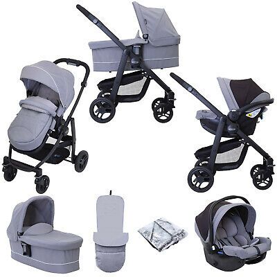 Graco Evo (SnugEssentials Car Seat) Travel System With Carrycot - Steeple Grey • 399.99£