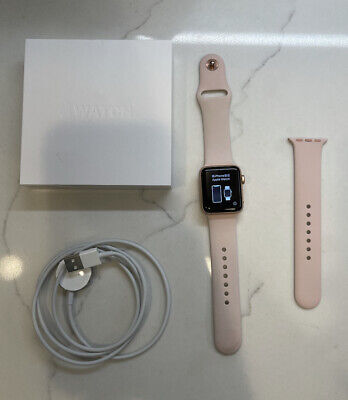 AU101.16 • Buy Apple Watch Series 3 38mm Rose Gold, Pink Sand Sport Band (GPS) A1858