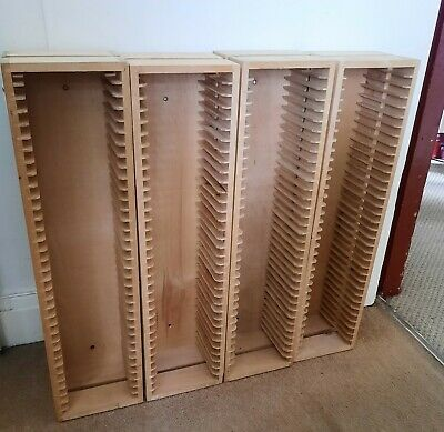 ALL FOUR Ikea Wooden Storage CD/DVD Racks FOR PRICE SHOWN. • 10£