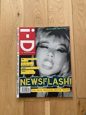 VINTAGE YOUTH FASHION I-D MAGAZINE No 91 APR 1991, THE NEWS ISSUE - ONLY £4.99!! • 5.50£