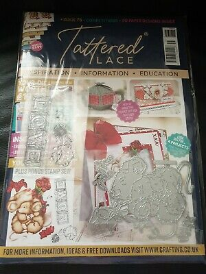 Tattered Lace Magazine Issue 75 & Free Mice Dies, Love Stamps, Papers & Charisma • 6.50£