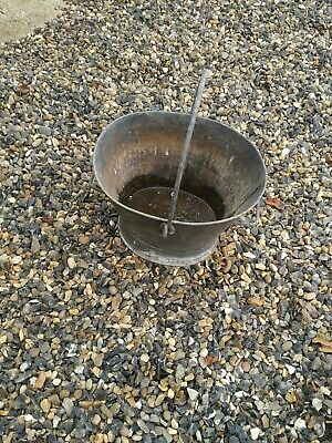 2 X Vintage Galvanised Metal Buckets Garden Planters Pots With Handles.Preowned • 30£
