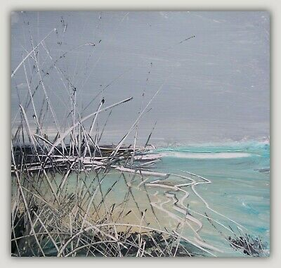 Coastal Grasses, Semi Abstract Sea / Landscape Art. Original Acrylic Painting. • 0.99£