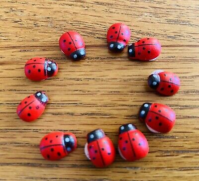 10 Ladybirds🐞Peel Off Stickers For Crafting/Scrapbooking/Card Making🐞+2FREE🐞 • 0.01£