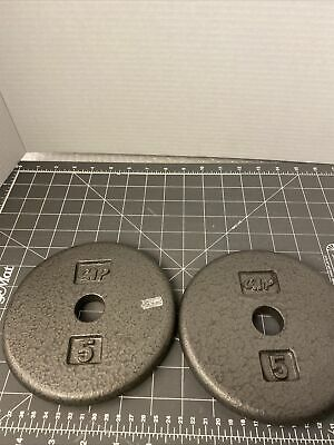 $ CDN37.81 • Buy Two (2) 5lb Standard 1  Cap Weight Plates 10 Pounds Total