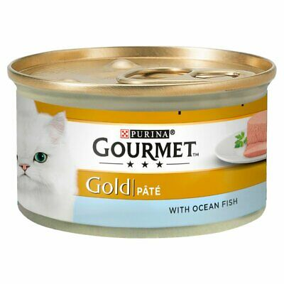 Gourmet Gold Tinned Cat Food Pate With Ocean Fish 85g × 12 × 1 • 14.99£