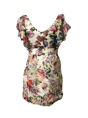 AU29 • Buy Forever New Floral Silk Dress Size 10