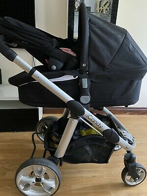 ICandy Apple 2 Pear Black Travel System Double Seat Stroller • 48£