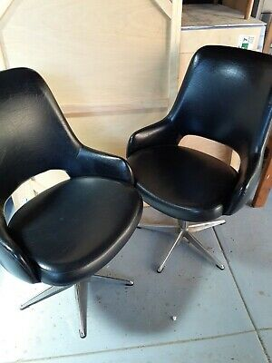 AU180 • Buy Vintage Swival Chairs X 2 [1970's Style]