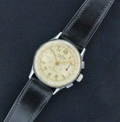 $ CDN392.99 • Buy Vintage Delbana Chronograph Wind Men's Military Style Watch Landeron 48 Runs