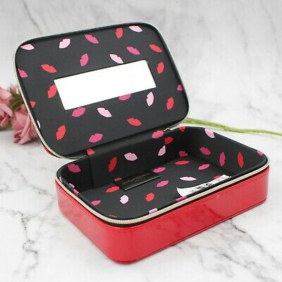 £18.17 • Buy 1x YSL Beauty Red Makeup Cosmetic Case / Bag / Box With Mirror, Brand New!