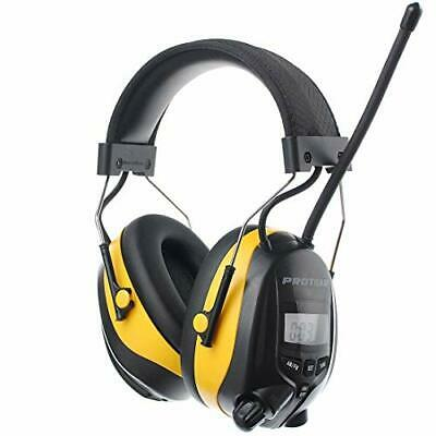 PROTEAR Ear Defenders With FM/AM Radio MP3 Compatible, SNR 30dB Adjustable Band • 60.71£