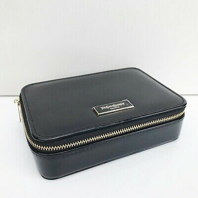 £20.93 • Buy YSL Beauty Black Faux Patent Leather Makeup Cosmetic Case Bag Box With Mirror
