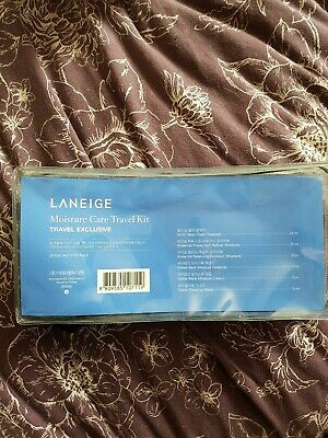 Laneige Moisture Care Travel Trial Kit Set Gift Sleeping 6 Items Pouch Cleanser • 10£