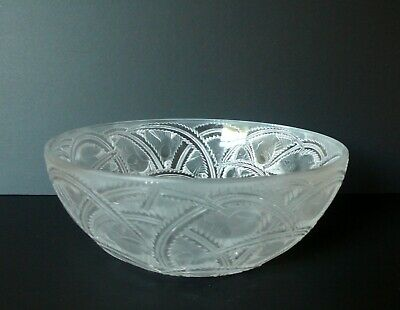 Vintage Lalique  Pinsons  Crystal Art Glass Bowl -before 1978 • 155.24£