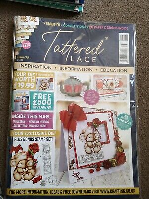 Tattered Lace Magazine With Die With Stamp. Issue 75 • 6.99£