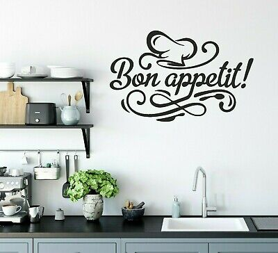 £3.99 • Buy Wall Art Sticker Bon Appetit  Removable Home  Decals, Kitchen Decorate  Quotes M