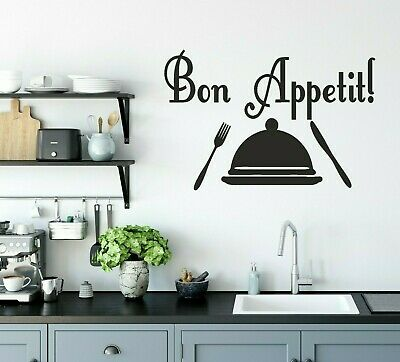 £3.99 • Buy Wall Art Sticker BON APPETIT  Removable Home  Decals, Decorate  Quotes M