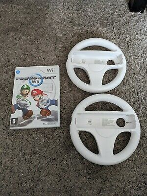 Mario Kart Complete With 2 Official Wii Wheels (Nintendo Wii, 2008) • 11.50£