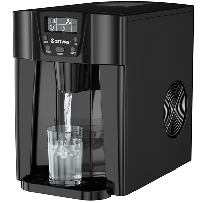 $184.99 • Buy 2 In 1 Ice Maker Water Dispenser Countertop 36 Lbs/24H LCD Display Portable Home