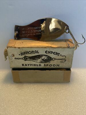 $ CDN23.85 • Buy Vintage National Expert Bayfield Spoon No. 400 Nickel Copper With Box Fishing