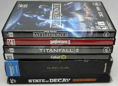 AU32.29 • Buy Lot Of 7 PC Titanfall 2,Overwatch,State Of Decay,Battlefront II,Wolfenstein II