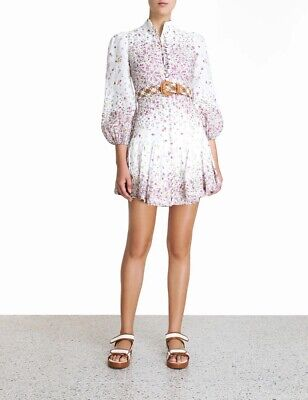 AU600 • Buy Zimmermann Carnaby Short Dress Size 0 BNWT