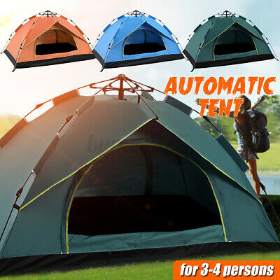 AU48.77 • Buy Camping Tent Waterproof Automatic Quick Open Camping Tent Outdoor 3-4 Person AU%