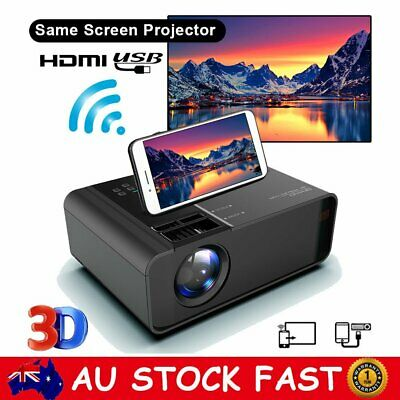 AU132.99 • Buy HD 1080P Mini LED Projector Home Cinema Theater HDMI Video Movie Game Projector