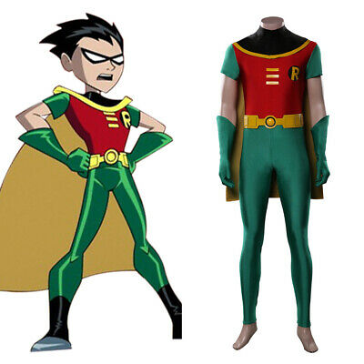 $ CDN65.18 • Buy Teen Titans Robin Cosplay Costume Jumpsuit Outfits Halloween Carnival Costumes