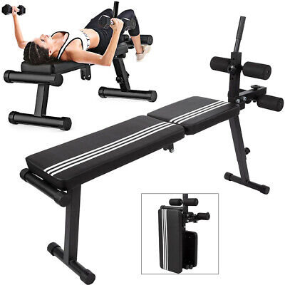 Weight Bench Multi Adjustable Home Workout Exercise Flat Incline Decline Sit Up • 36£