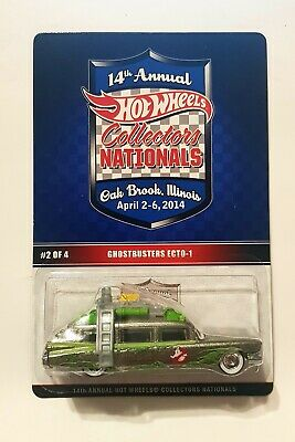 LOW Hot Wheels 2014 Annual Collectors  National Ghostbusters Ecto-1 132/2600 • 108.50£