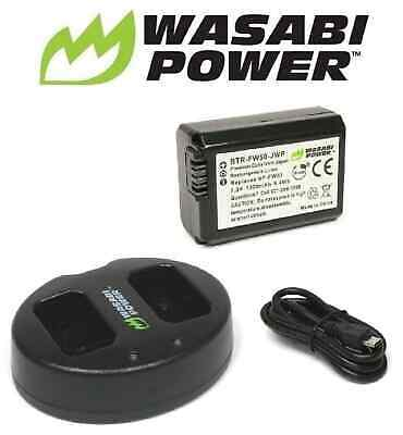 AU42.50 • Buy NP-FW50 Wasabi Battery X1 & Charger For SONY Alpha A5000 A5100 A6000 A6300 A6500