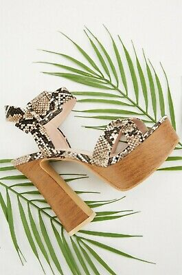 Ladies Womens Chunky Block Heel Ankle Strap Platform Summer Sandals Shoes Size 4 • 1.80£