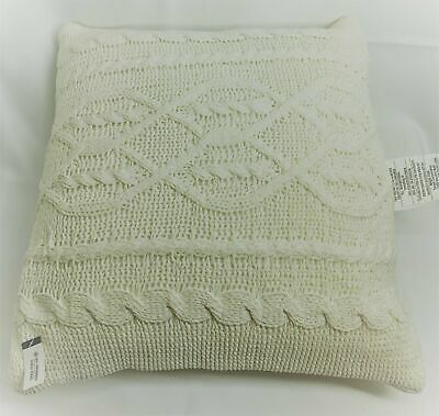 £16.89 • Buy THRESHOLD 24  X 24  Throw Pillow NWT Oversized Cable Knit Chenille Cream