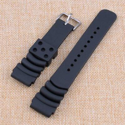 $ CDN13.23 • Buy Band Watch Black Rubber Sports Strap Fit For Seiko Diver Scuba 20MM/22MM