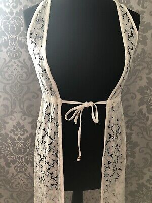 Lace Beach Cover Up Long Dress White Size M Brand New • 14.99£