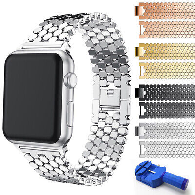 $ CDN15.73 • Buy For Apple Watch IWatch Series 6 5 4 3 2 Stainless Steel Watch Band 38/42/40/44mm