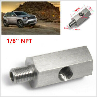 $8.99 • Buy 1/8'' NPT Car Oil Pressure Sensor Tee To NPT Adapter Turbo Supply Feed Fitting