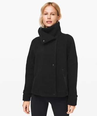 $ CDN62.57 • Buy Lululemon Womens Sz 10 Black Show Me The Sherpa Fleece Cozy Asymmetrical Jacket