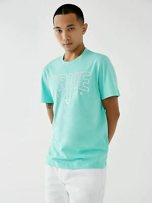 TRUE RELIGION Men's Mint Green Crew Neck Short Sleeve T-Shirt M RRP49 BNWT • 24.50£